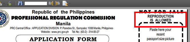 crop of prc application form