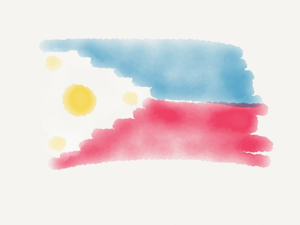 The Philippine Flag (my flag drawing skills haven't improved since 1st grade)